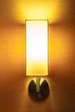 Lamp. Wall lamp,bright and luxury on wood wall Stock Images