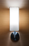 Wall lamp. Bright and luxury on wood wall Stock Photography