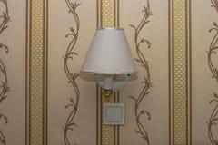 Wall lamp centrally Stock Photos
