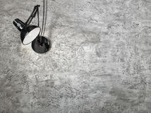The wall lamp on the grange grey background Stock Photos