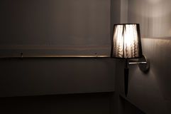 A wall lamp,lamp modern sconce on the wall. Wall lamp,lamp modern sconce on the wall stock images