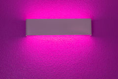 Wall lamp with light shade. Modern wall lamp with light shade on magenta cement wall royalty free stock image