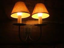 Wall lamp at night Royalty Free Stock Photo