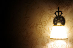 Wall Lamp. Old Wall Lamp in the dark Stock Photo