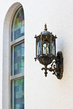 Wall lamp with Stained window Stock Photo