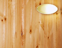 Wall with lamp. Wooden plank wall with lamp Royalty Free Stock Photography