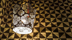 Wall lamp. Working interior wall light, tracery lamp Royalty Free Stock Photo