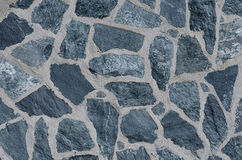 Wall of the large gray stones . Stock Photos