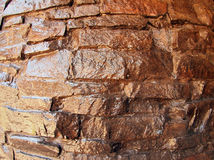 The wall of the large natural stone closeup Stock Image