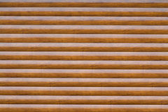 Wall with a large number of parallel logs Stock Photos