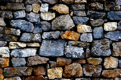 Wall of the large and rough stones Stock Photos
