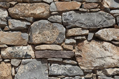 Wall from large stone textured basalt. Good background for wallpaper.