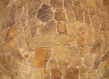 Wall of large stones of irregular shape Royalty Free Stock Photos