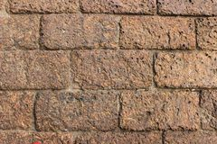 Wall laterite. Background wall laterite Royalty Free Stock Photo