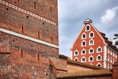 Wall of the Leaning Tower in Torun, Poland royalty free stock photos