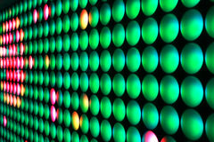 Wall of Light. Wall of round green and red lights Stock Images