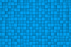 Wall of light blue cubes. Wall of cubes. Abstract background. 3d render Royalty Free Stock Images
