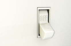 Wall Switch Off Stock Images