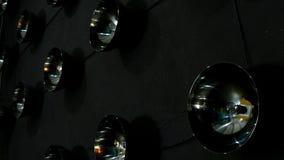 Wall of lighting bulbs stock video