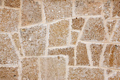 Wall of limestone Royalty Free Stock Photo