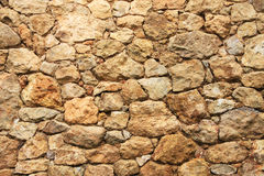 Wall from limestone Stock Images
