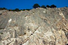 Wall of limestone rocks Stock Photography