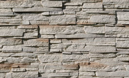 A wall of limestone slabs Royalty Free Stock Photo
