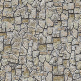 Wall Lined with Decorative Stone Royalty Free Stock Photo