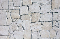 Wall lined with limestone slabs Stock Images