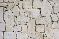Wall lined with limestone slabs Stock Photos