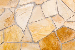 Wall lined with porphyry stones Royalty Free Stock Images