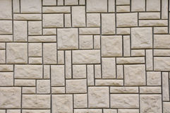 Wall lined with stone slabs Royalty Free Stock Photography