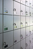 Wall of lockers Stock Photography
