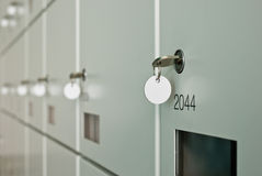 Wall of lockers Royalty Free Stock Image