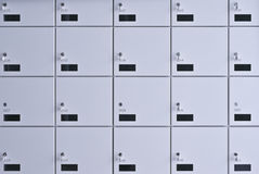 Wall of lockers. Stock Images