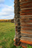 Wall from log. At countrisde building Stock Photos