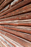 Wall of an log cabin Stock Image