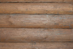 Wall of log cabin Stock Photos