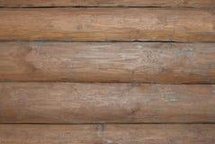 Wall of log cabin. Close- up Stock Photos