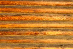 Wall of log cabin Royalty Free Stock Image