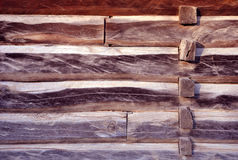 Wall of log house. Wall of old log house royalty free stock images