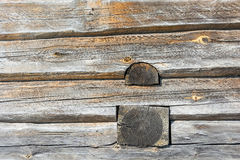 Wall of a log house. Stock Image