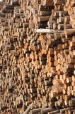 Wall of logs Stock Image