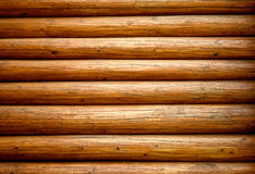 Wall from logs Royalty Free Stock Photo