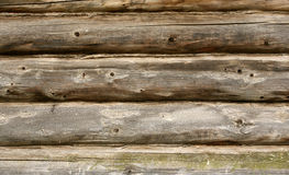 Wall from logs Royalty Free Stock Photos