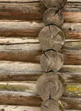 Wall from logs Royalty Free Stock Photography
