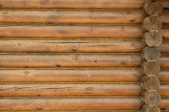 Wall from logs. The texture of the old logs, wall corner Royalty Free Stock Images