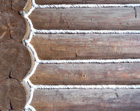 Wall from logs background Royalty Free Stock Photos