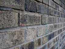 A wall in London. Close up of the texture of a wall made of brick in London Stock Image