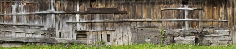 Wall of  long  shed panorama Royalty Free Stock Photo
